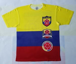 Colombia Soccer logo dry fit T shirt futbol world cup $33.99