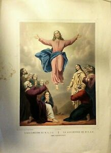 ASCENSION OF N. S. J. C lithograph original Turgis1844-1855