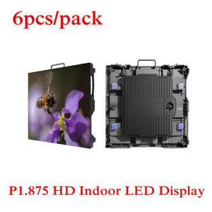 6pcs  pack P1.875 Frameless Design Rental Indoor Advertising Led Display