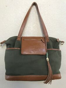 Lily Jade Backpack and Purse Leather Forest Green Madeline Diaper Bag