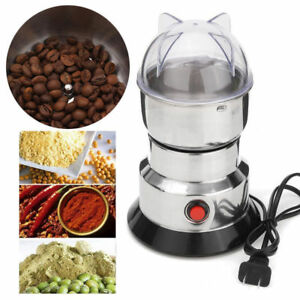 220V Electric Herbs/Spices/Nuts/Grains/Coffee Bean Grinder Mill Grinding DIY Hot
