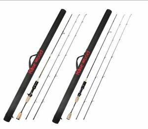 Fishing Rod With Case Ultra Light Carbon Soft Lure Spinning Casting Rods