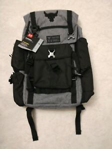 New Under Armour Project Rock Regiment Backpack Bag In Gray GREY