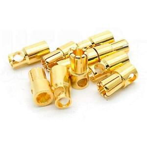 5 Electric Motors & Parts Pairs 6mm Bullet Connector Gold Plated 100A+ RC Drone