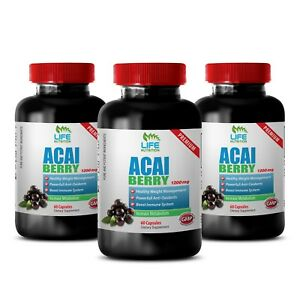 acai berry capsules Acai Berry 1200mg 3 Bottles weight loss cleanse $43.95