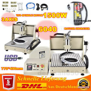 Engraving Milling Machine 1500W 3AXIS CNC6040T VFD Router Cutter + USB Port + RC