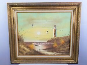 Lighthouse Painting Signed by Carpenter $400.00
