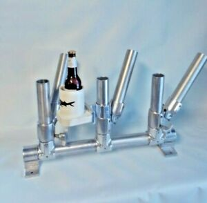 1 DOUBLE BARREL SIX PACK ROD HOLDER CUP HOLDER 1 MICHIGAN STINGER CISCO SPOON