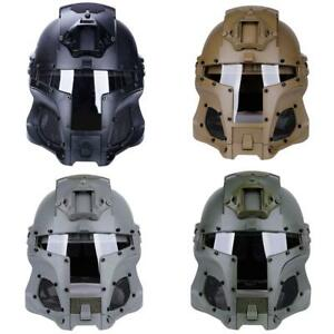 New Tactical Retro Medieval Iron Warrior Motorcycle Airsoft Helmet Mask Outdoor
