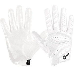 Cutters S652 Gamer 3.0 Padded Receiver Glove-Adult: Small-WHITE