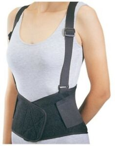 Procare 79-89147 Industrial Back Support with Suspenders Large Black - 1ea 8pk