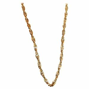 Interlocking Spiral Design Gold Neckchain