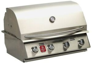Bullet Built-in Propane Gas Grill Warming Rack Solid Stainless Steel 4-Burner