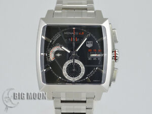 Tag Heuer Monaco Automatic Stainless Steel Watch Chronograph caliber 12 Auth