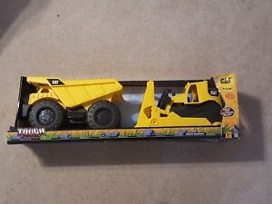CAT Tough Tracks Outdoor Play Bulldozer and Dump Truck Construction Vehicles