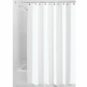 InterDesign Water Mold and Mildew-Resistant Fabric Shower Curtain 72 by 84 in