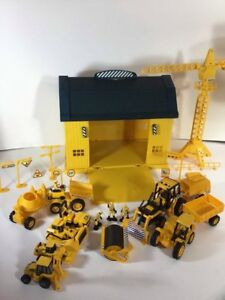 Vintage 1990's New Ray UK Design CAT Construction Lot With Workshop Yellow