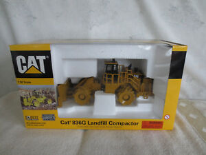NORSCOT 150 CAT 836G LANDFILL COMPACTOR HIGHLY DETAILED CONSTRUCTION TOY