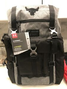 Under Armour UA Project Rock Regiment Backpack Grey Gray Chase Greatness
