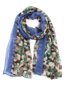 ScarvesMe Women#x27;s Fashion Camouflage With Solid Border Oblong Scarf