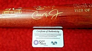 Cal Ripken Jr LEHO Signed Baseball Bat COA by Sure Shot Promotions