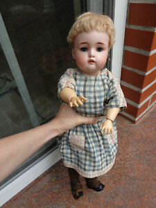 Antique doll Simon & Halbig with antique earrings rare mold number