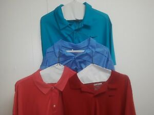 Nike Dri Fit 2 XL Lot Of 3 Shirts And 1 Under Armour golf shirts polo