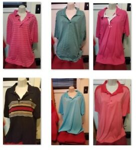 Lot 6 New Mens Polo Golf Shirt XXL -Nike DriFit Oakley Lacoste FJ Snake Eyes