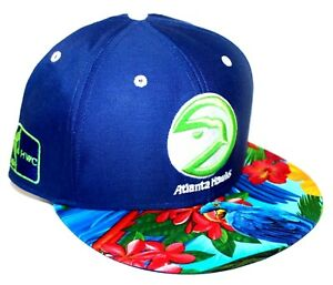 Atlanta Hawks Tropical Bird Brim 47 Brand SnapBack (Fits Like 950 New Era) Lime