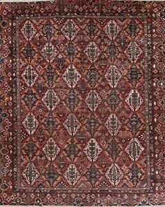 Antique Vegetable Dye Palace Size Persian Bakhtiari All Over Oriental Rug 12x15