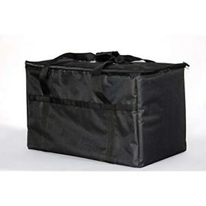 Insulated Nylon Food Delivery Bag  23in X 13in 15in Black