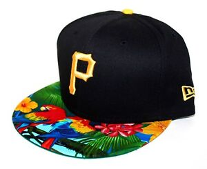 PICK1 Pittsburgh Pirates Tropical Parrot Brim 9FIFTY New Era SnapBack Black