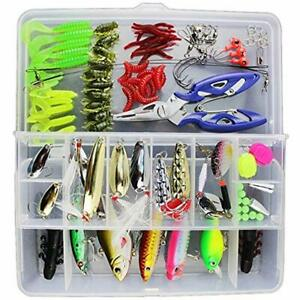 101pcs Set Fishing Lures Tackle Including Freshwater Saltwater Bass Trout