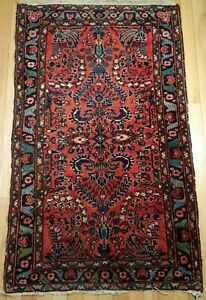 Antique Vintage Small Oriental Area Rug Turkish Persian 30