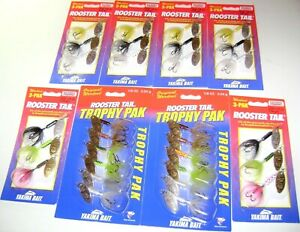 30 WORDEN'S ROOSTER TAIL SPINNERS LURES 18 OUNCE TROPHY PACKS AND KITS HUGE LOT