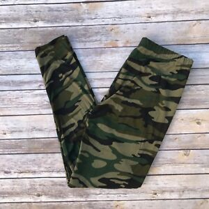 Green Camouflage Women#x27;s Leggings Extra Plus Size TC2 20 26 Buttery Soft
