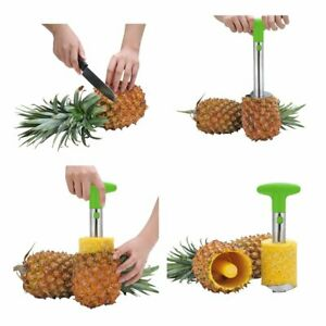 OHYIKA Stainless Steel Pineapple Slicer Pineapple Corer Peeler Cut Fruit Peel...