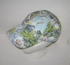 POLO RALPH LAUREN MEN CHINO TROPICAL LANDSCAPE GRAPHIC EMBROIDERED BASEBALL HAT