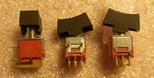 Camp;K 7201 DPDT Miniature Right Angle Switch Right Angle PC Pin Mount NEW $4.00