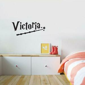 Personalized Harry Potter Wand WALL STICKER Decal Bed Room Children ST362