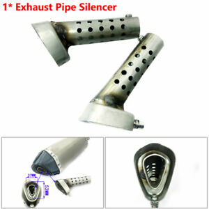 Stainless Motorcycle Exhaust Muffler Pipe DB Baffle Adjustable Killer Silencer $12.59