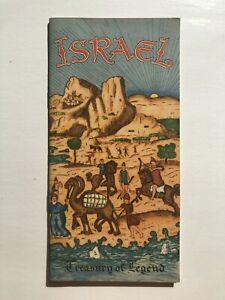 Rare 1950's Israel Travel Brochure w Pictures