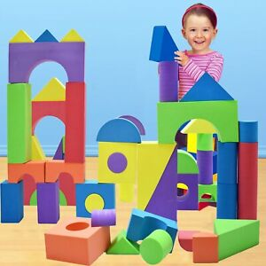 NEW Giant Foam Building Blocks Construction Toys for Toddlers Nontoxic 50 Pieces