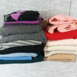 16 pc Lot of 100% Cashmere Sweaters Craft Cutter Fabric Not Felted 10 lbs
