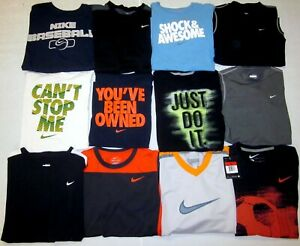 Nike Huge Lot of 22 Shirts Dri Fit Graphic T Youth Boys Size Large L 14 - 16