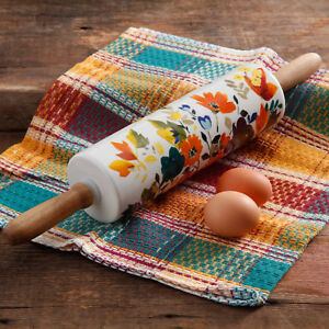 The Pioneer Woman Fall Flowers Rolling Pin Home Kitchen