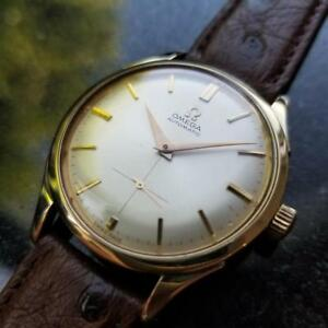 OMEGA Men's 18K Gold-Capped Tresor cal.332 Bumper Automatic c.1950s Swiss LV402