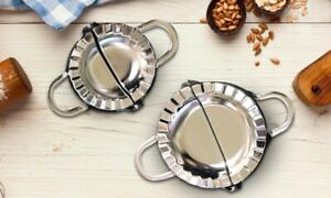 Stainless Steel Dumpling Maker Wrapper Dough Cutter Pie Ravioli Pastry Moulds