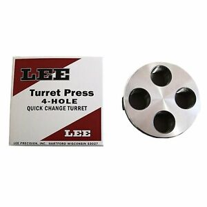 Lee Precision Four Hole Classic 4 Hole Turret Quick Change Turret Press Silver N