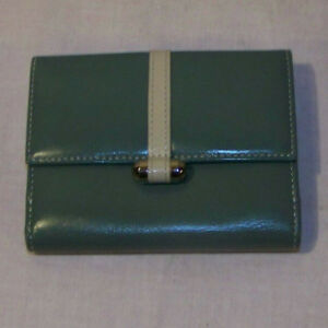 Womens WalletsLEVENGER GREEN WITH WHITE STRIPE Leather Wallet